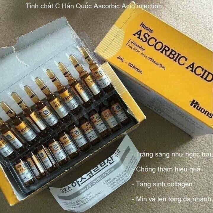 Tế bào gốc chống lão hóa Huons Ascorbic Acid Vitamin C Inj Ampoules 2ml x 50 ống